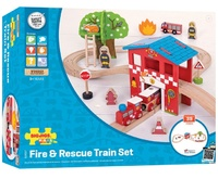 Bigjigs - Fire Station Train Set
