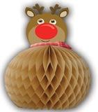 Paper Honeycomb Reindeer Table Centerpiece