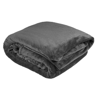 Bambury Queen Ultraplush Blanket (Charcoal)