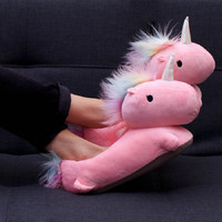 Unicorn USB Heated Slippers (Pink)
