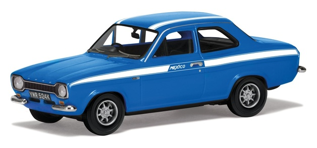 "Corgi: 1/43 Ford Escort Mk1 Mexico ""Electric Monza Blue"" - Diecast Model"