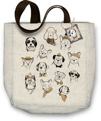Molly & Rex: Dogs Canvas Tote Bag