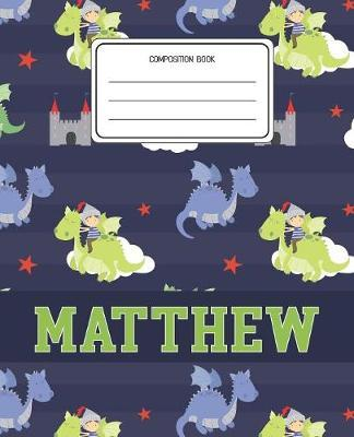 Composition Book Matthew by Dragons Animal Composition Books image