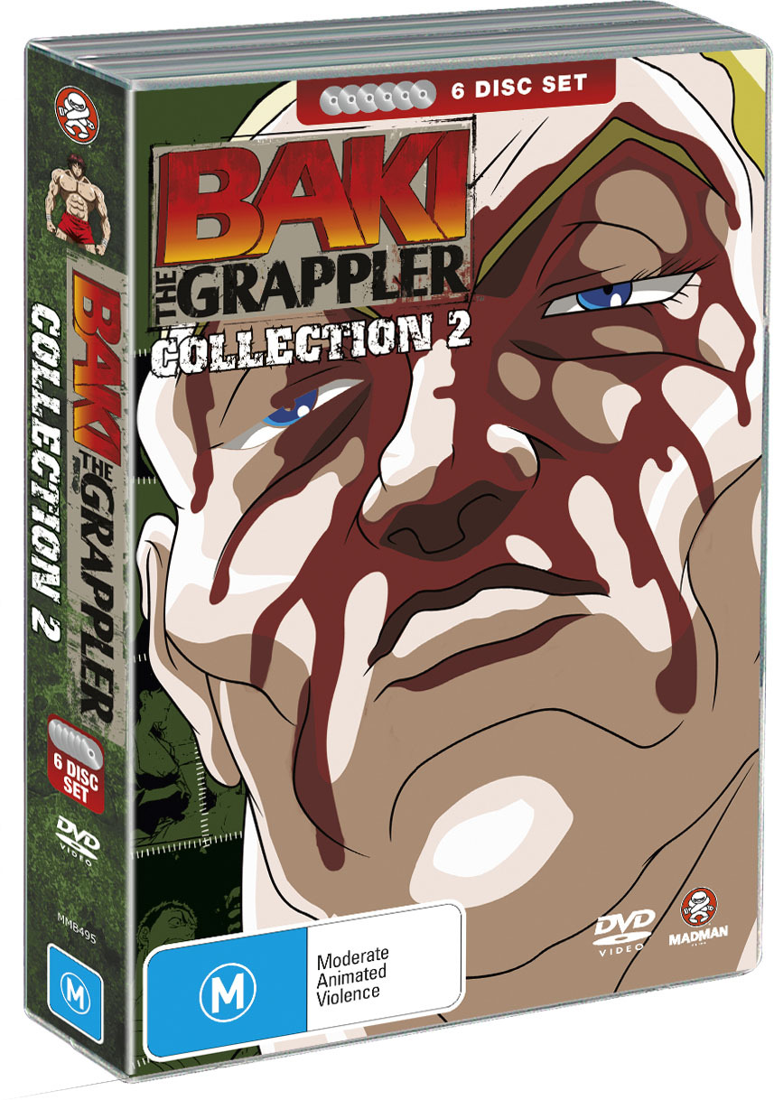 Baki The Grappler - Collection 2 (6 Disc Fatpack) on DVD image