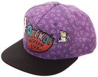 Rockos Modern Life - Sublimated Snapback Cap - with Lapel Pins