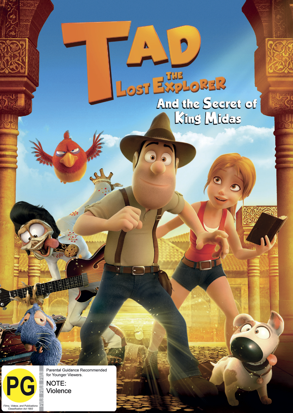 Tad The Lost Explorer & The Secret Of King Midas on DVD image