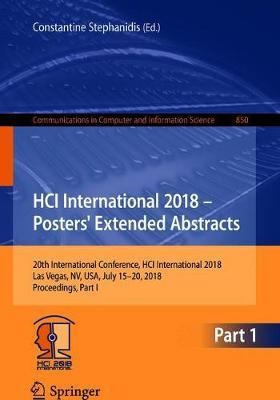 HCI International 2018 - Posters' Extended Abstracts image