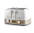 Sunbeam: New York Collection - 4 Slice Toaster (White Gold)