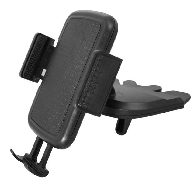 Hands Free CD Slot Car Phone Holder - Black