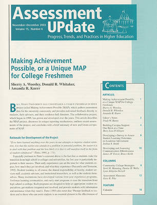 Assessment Update Volume 15 Number 6 November-december 2003