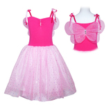 Pink Poppy: Twinkle Dress (Size 3/4) - Hot Pink
