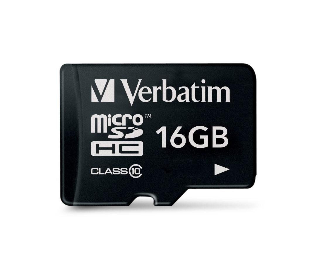 Verbatim Micro SDHC Card - 16GB (Class 10) image