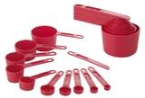 11 Piece Measuring Set - Red