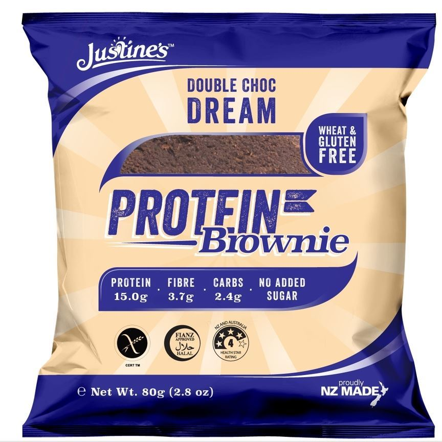 Justine's Protein Brownies - Double Choc Dream (Single) image