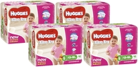 Huggies Ultra Dry Nappies Convenience Shipper: Walker Girl 13-18kg (64)
