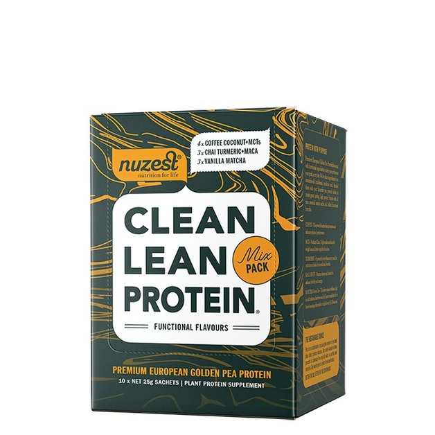 Nuzest Clean Lean Protein Functional Flavours - Mix Pack Sachet Box (10x25g)