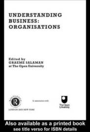 Understanding Business Organisations