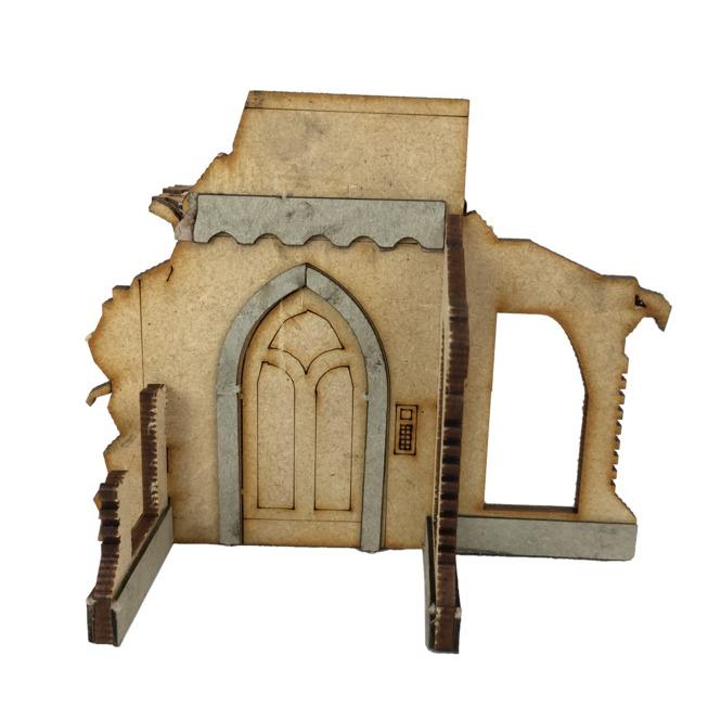 TTCombat: Tabletop Scenics - Gothic Corner Ruins C image