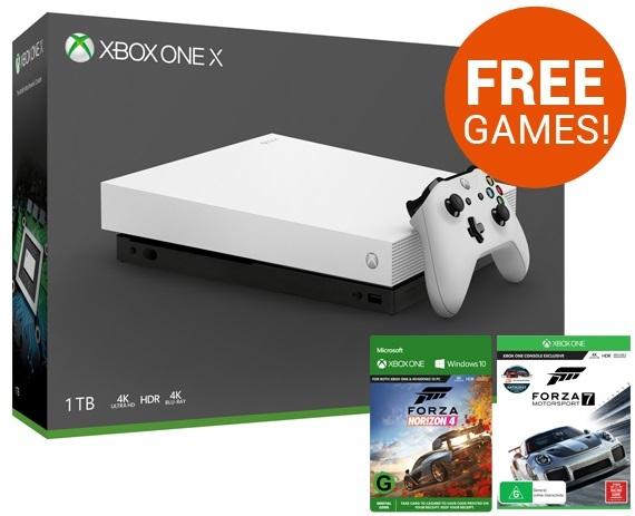 Xbox One X 1TB Forza Horizon 4 Console Bundle - White | Xbox One