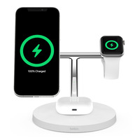 Belkin BOOST↑CHARGEPRO 3-in-1 Wireless Charger with MagSafe - White
