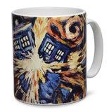 Doctor Who TARDIS Van Gogh Mug