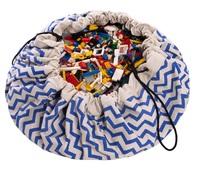 Play & Go Storage Bag (Zig-Zag Blue)