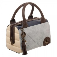 Rey Canvas and PU Leather Handbag