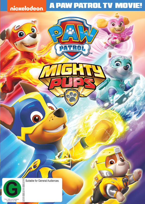 Paw Patrol: Mighty Pups on DVD