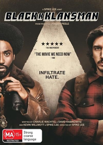 Blackkklansman on DVD