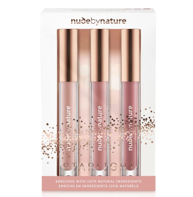 Nude by Nature: Starlight Moisture Infusion Lip Gloss Trio