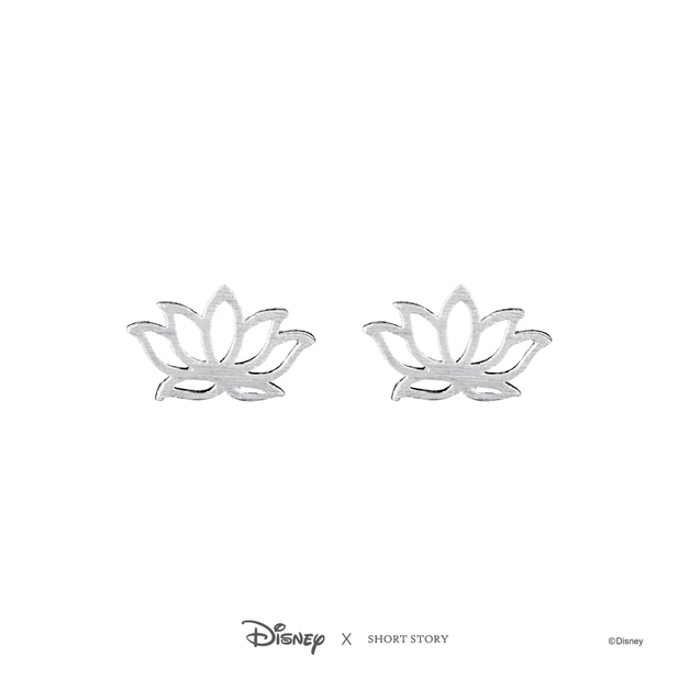 Short Story: Disney Earring Jasmine Lotus - Silver