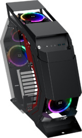 Xigmatek Perseus Tempered Glass Open Frame Mid Tower Case