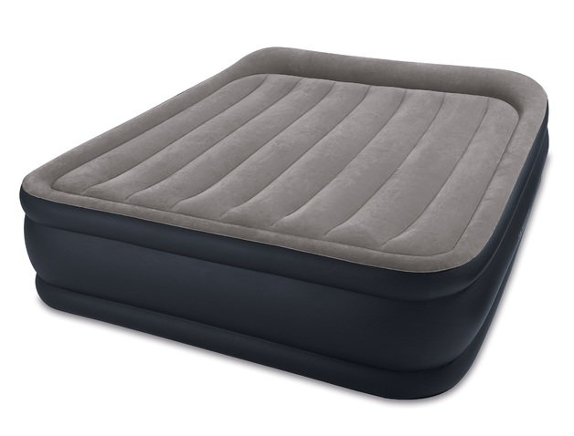 Intex: Queen Deluxe Pillow Rest Raised Airbed (with 220-240v Built-in Pump)