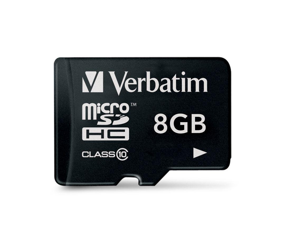 Verbatim Micro SDHC Card - 8GB (Class 10) image