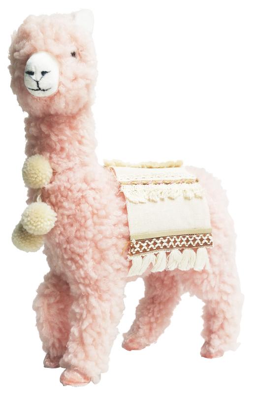 Urban Products: Peach Boho Fluffy Llama - Medium