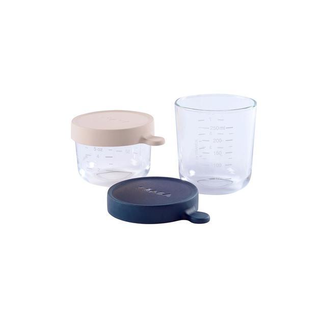 Beaba: Conservation Jars - Dark blue (2 Pack)