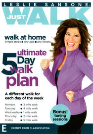 Leslie Sansone Just Walk: Ultimate 5 Day Walk Plan on DVD