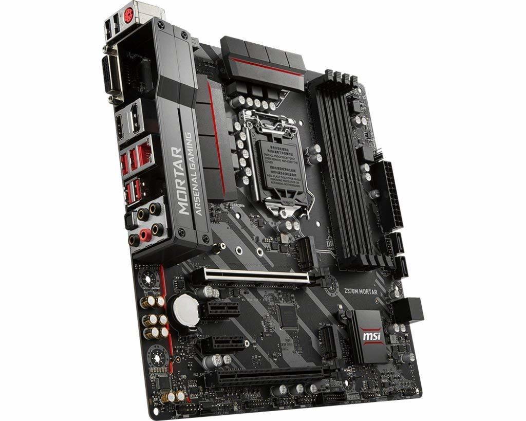 MSI Z370M MORTAR, Intel Z370, DDR4-4000, Dual M.2, MATX MotherBoard image
