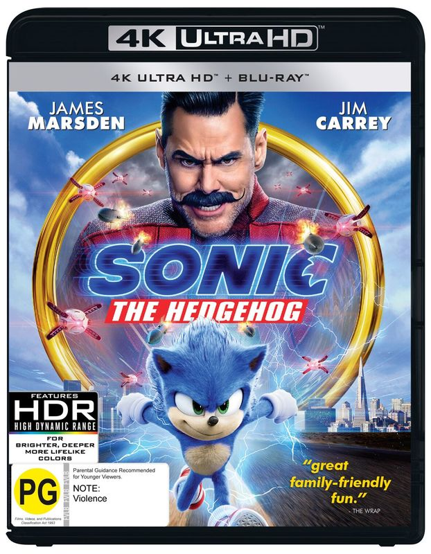 Sonic The Hedgehog on UHD Blu-ray