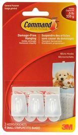 Command Micro Hooks - White (3 Pack)