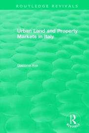 : Urban Land and Property Markets in Italy (1996) by Gastone Ave