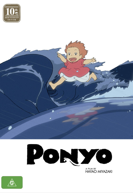 Ponyo - 10th Anniversary Limited Edition (Blu-ray & DVD Combo With Artbook) on DVD, Blu-ray