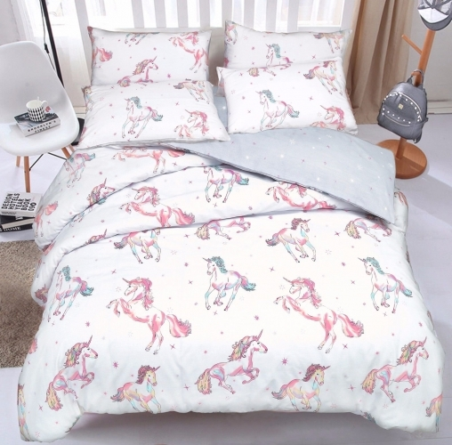 Luxury Unicorn Design Duvet Set (Queen)