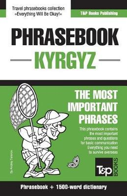 English-Kyrgyz Phrasebook and 1500-Word Dictionary by Andrey Taranov image