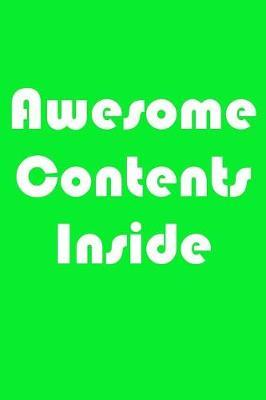 Awesome Contents Inside by November Ink