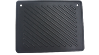 Cast Iron Reversible Hotplate with Smooth & Ribbed Surface 260x330mm image
