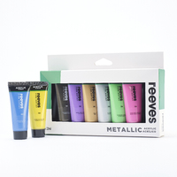 Reeves: Acrylic - Metallic (22ml / Set of 8)