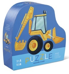 Crocodile Creek Mini Shaped Box Puzzle - Digger
