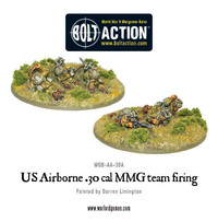 US Airborne - 30cal team - Firing