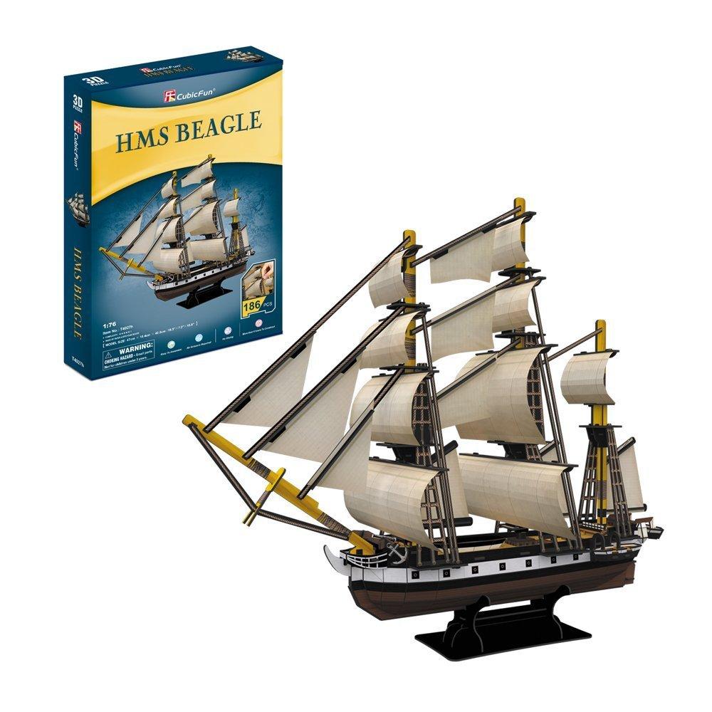 CubicFun: HMS Beagle Puzzle - 168 Piece 3D Puzzle image